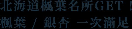 北海道楓葉名所get!楓葉/銀杏一次滿足