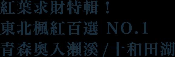 紅葉求財特輯!東北楓紅百選NO.1,青森奧入瀨溪 / 十和田湖