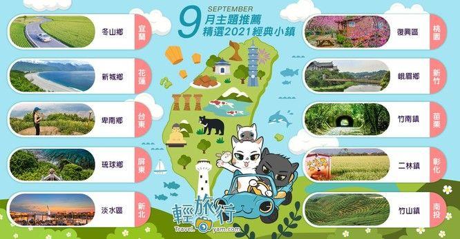 玩咖專欄_2021年9月主題推薦地圖:精選2021經典小鎮