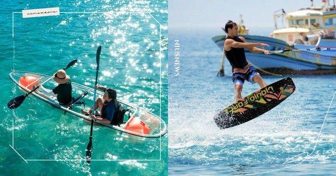 玩咖專欄_從水底玩到空中!澎湖 5 大必玩的水上活動,除了 SUP 慢遊賞日出更能挑戰乘拖曳傘飛翔